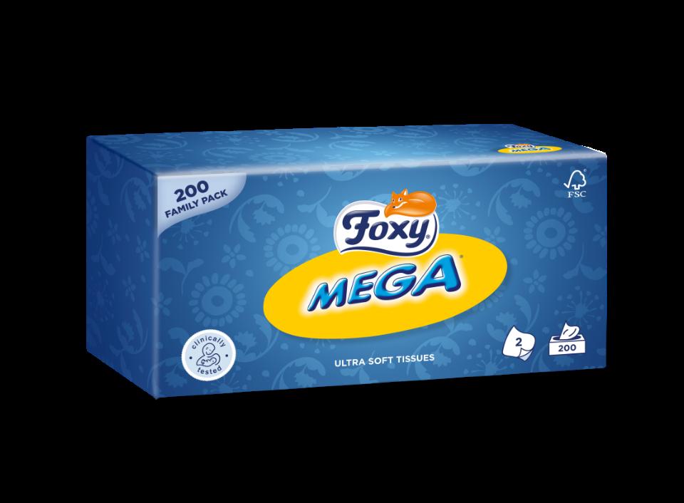 fazzoletti in scatola Foxy Mega