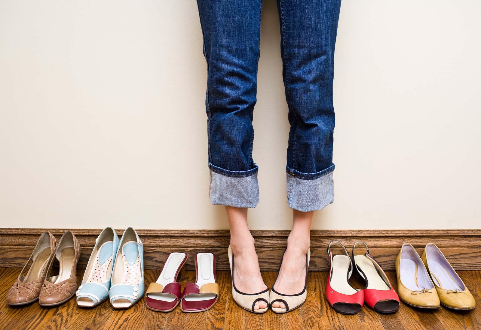 pulire le scarpe e igienizzare